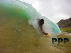 Shane using PPP bodysurfing handboards for bodysurfing handplanes Velo Standard bodysurfer