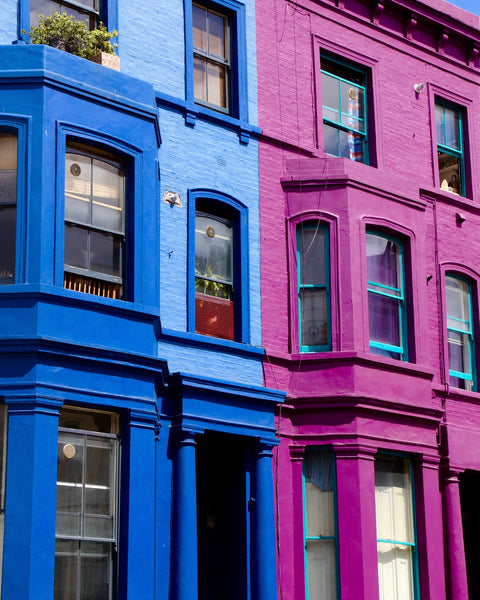 Primary Colors in Notting Hill - Blue & Purple