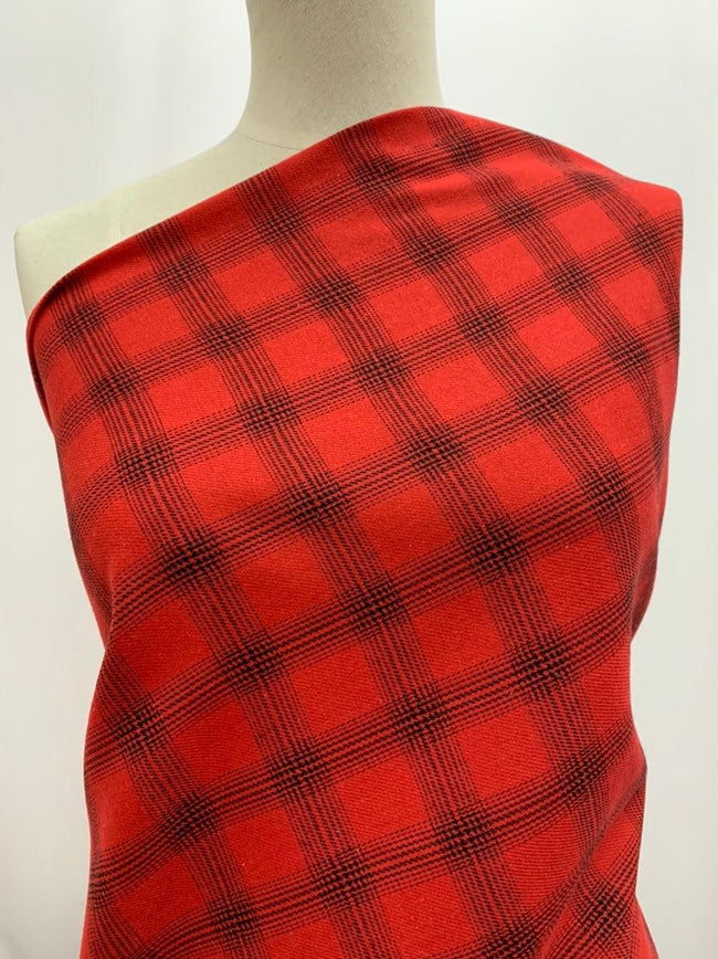 Poly Linen - Red Lumberjack