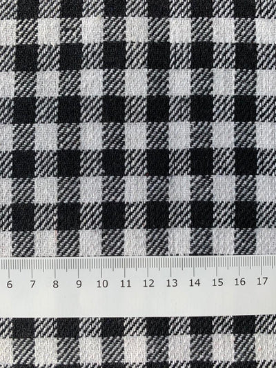 Designer Wool - Black & White Gingham