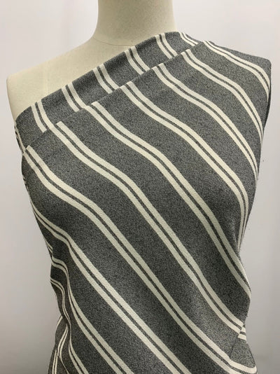 Textured Knit -Zoe Stripe White