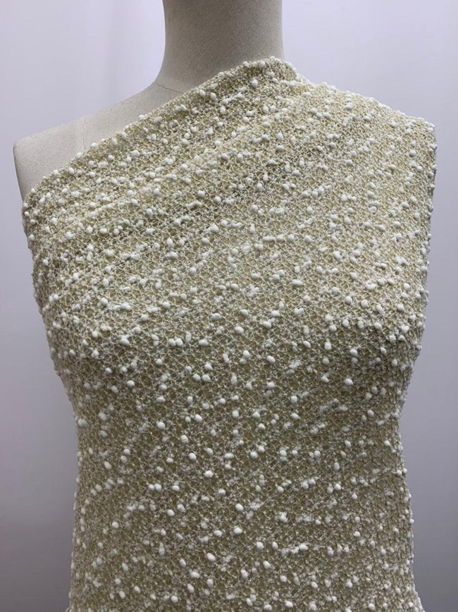 Lightweight Boucle - White & Gold