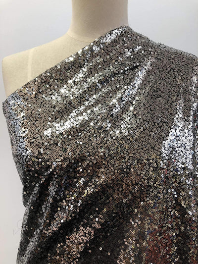 Evening Sequins - Silver/Black - Super Cheap Fabrics