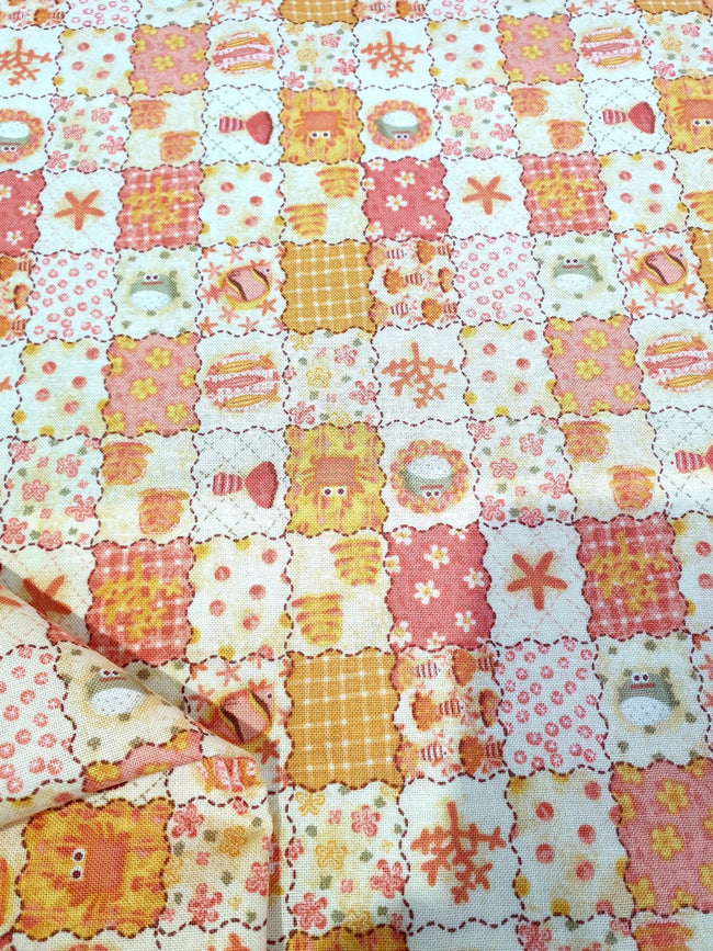 Craft & Quilt - Orange Patchwork