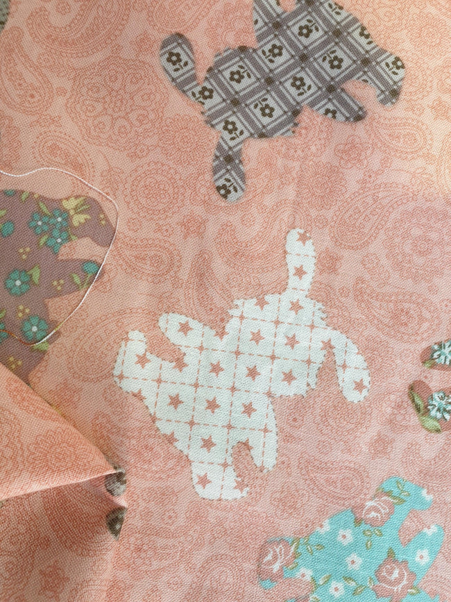 Super Cheap Fabrics - Craft & Quilt - Patchwork Bunnies - 112cm