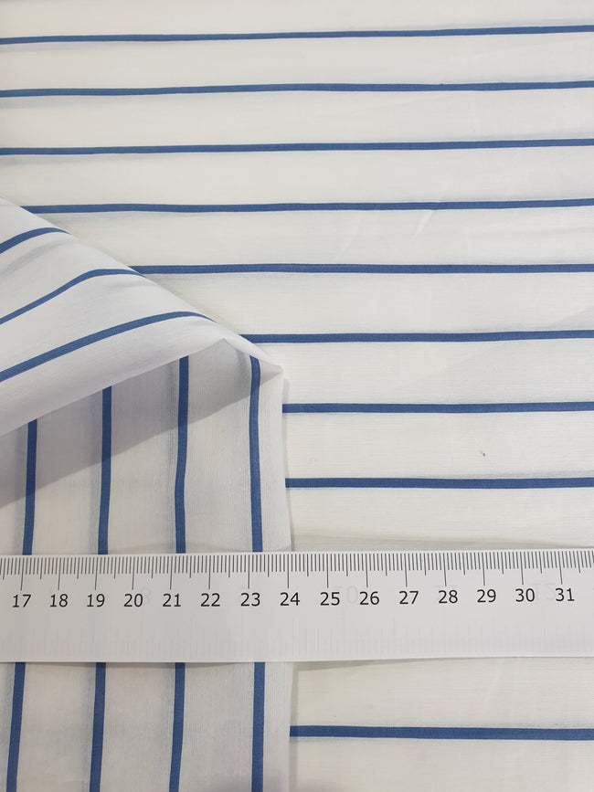 Cotton Voile - Blue Stripe