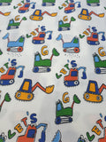 Tonka Truck Fabric with White Background