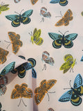 Butterfly Print Cotton Fabric - Pink
