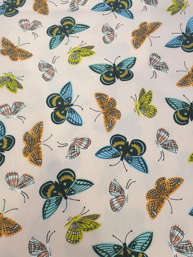Cheap Butterfly Print Fabric - Pink