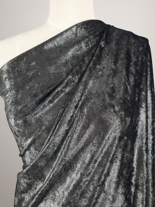 Metallic Velour - Silver
