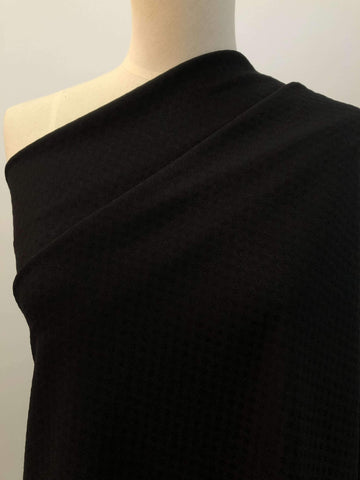 Jet Black - Textured - Super Cheap Fabrics