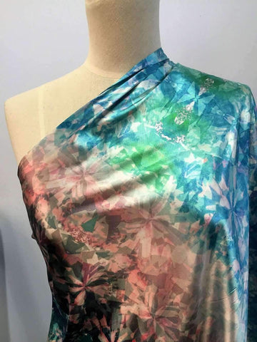 Printed Satin - Oceanic