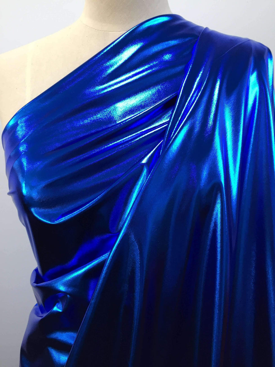 Foil Cobalt - Super Cheap Fabrics