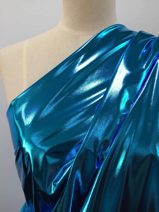 Foil Aqua - Super Cheap Fabrics