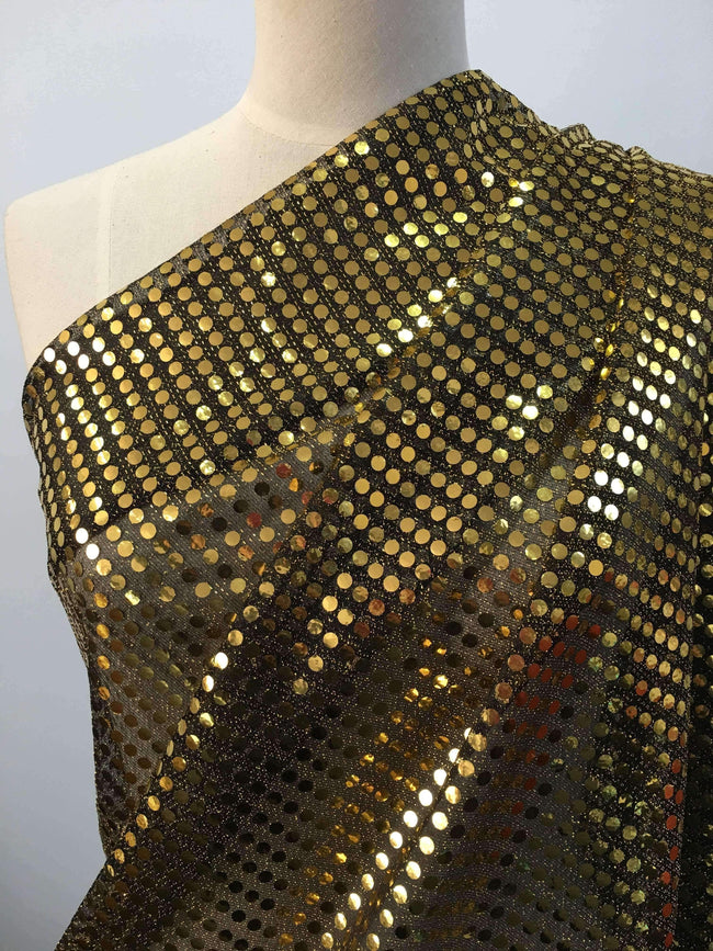 Sequin Black Gold