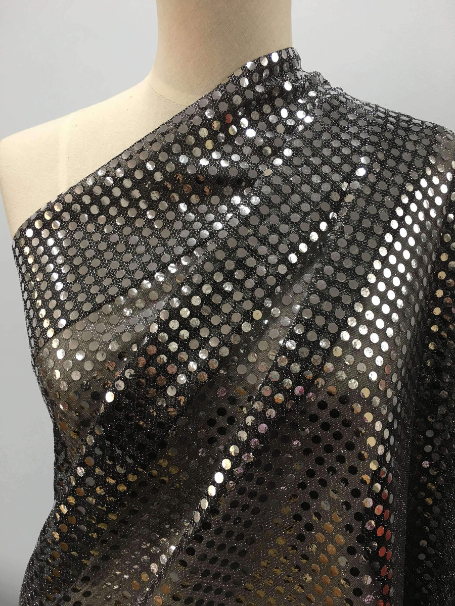 Sequin Black Silver