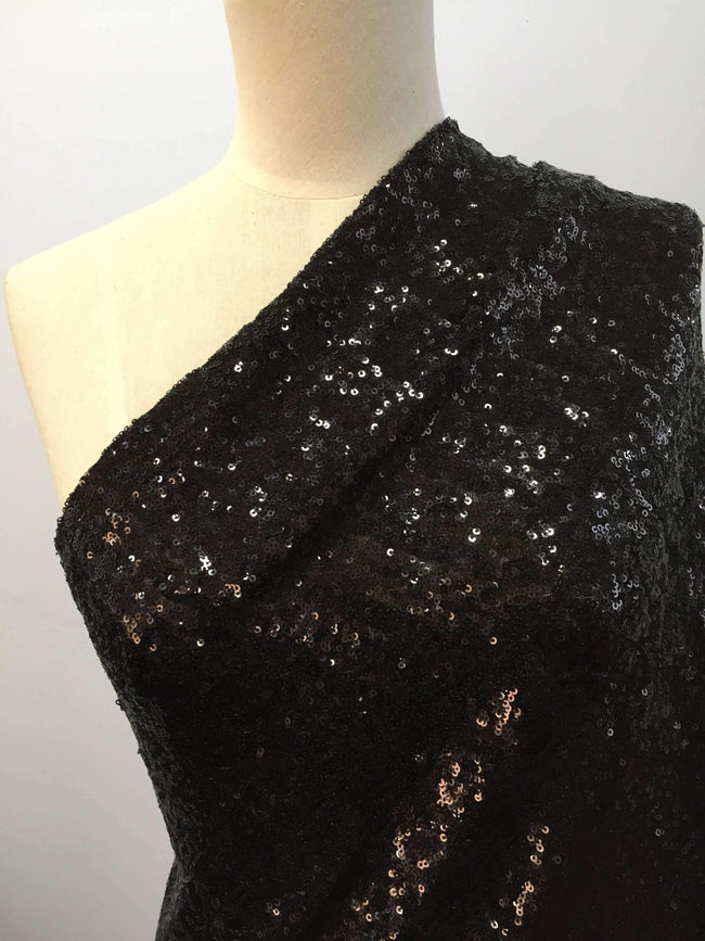 Evening Sequins - Black - Super Cheap Fabrics