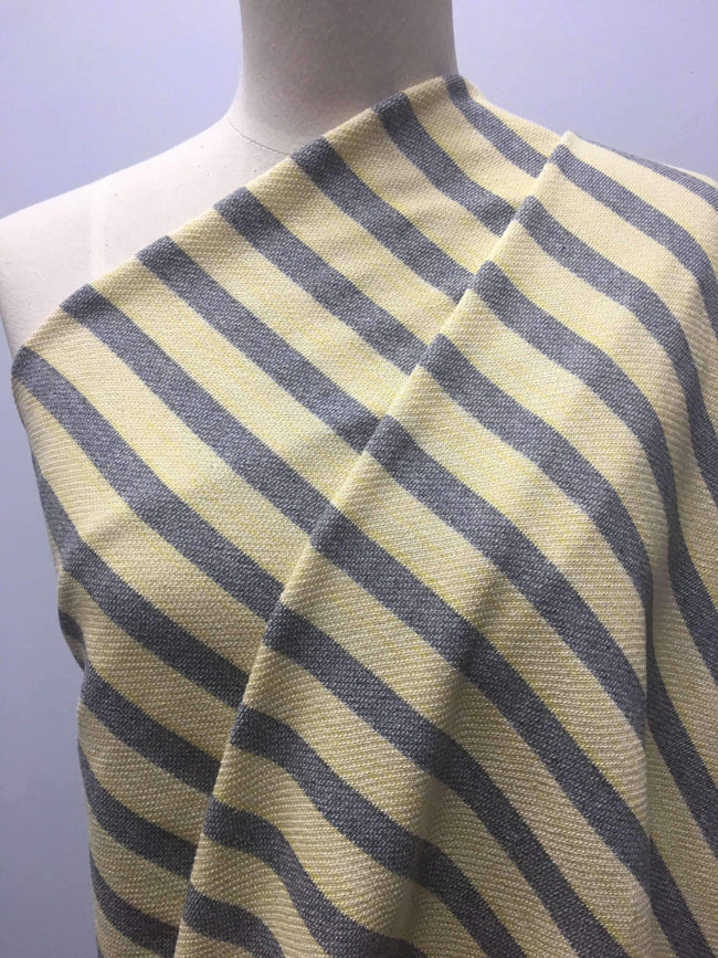 Stripe Knit - Yellow & Grey Terry Stripe - 160cm