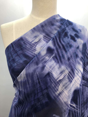 Printed Polyester - Purple Haze