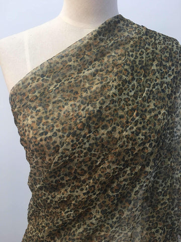Crushed Mesh - Leopard - Super Cheap Fabrics