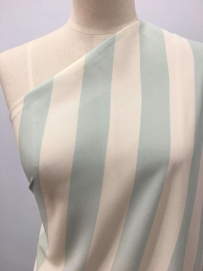 Printed Polyester - Candy Stripe