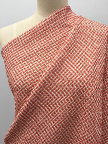 Hot Knot Jacquard - Rust/White - Super Cheap Fabrics