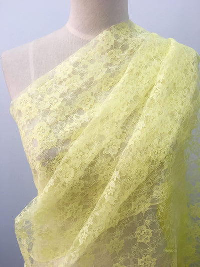 Mesh Lace - Yellow Flowers - Super Cheap Fabrics