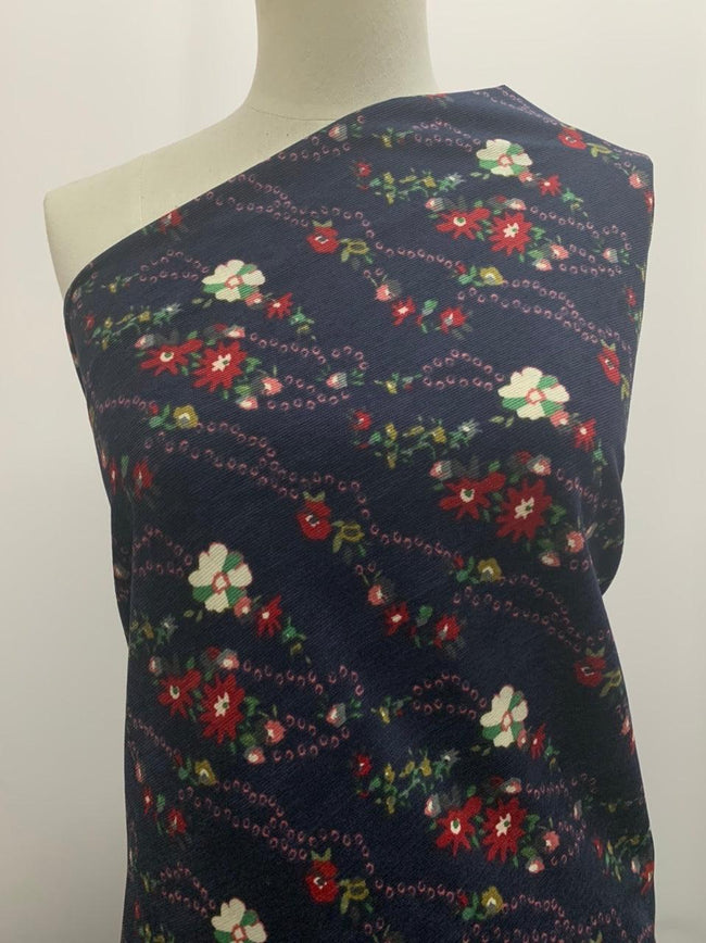 Printed Corduroy - Night Garden