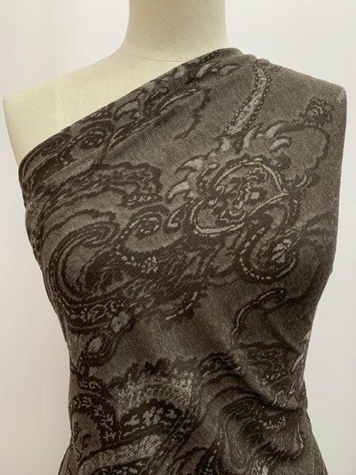 Textured Knit - Chocolate Paisley