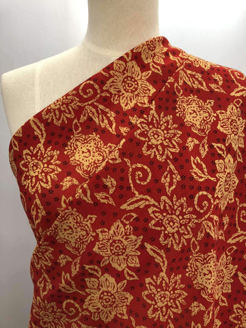Printed Polyester - Red Earth