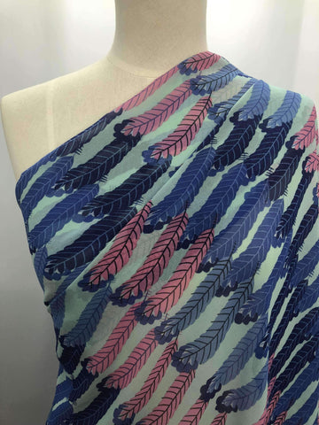 Printed Chiffon - Feather