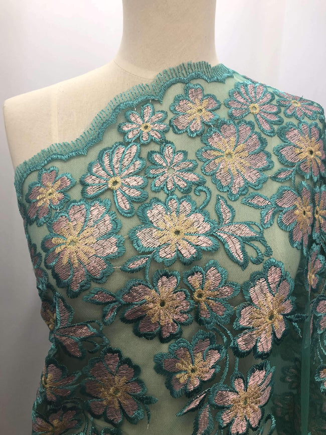 Embroidered Lace - Shamrock - Super Cheap Fabrics