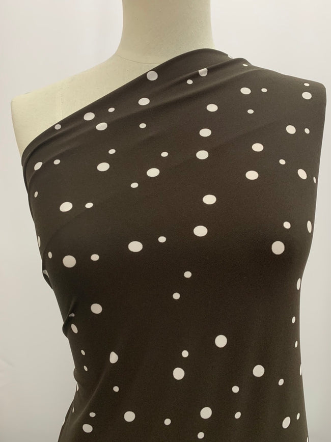 Printed Lycra - Multi Spotty