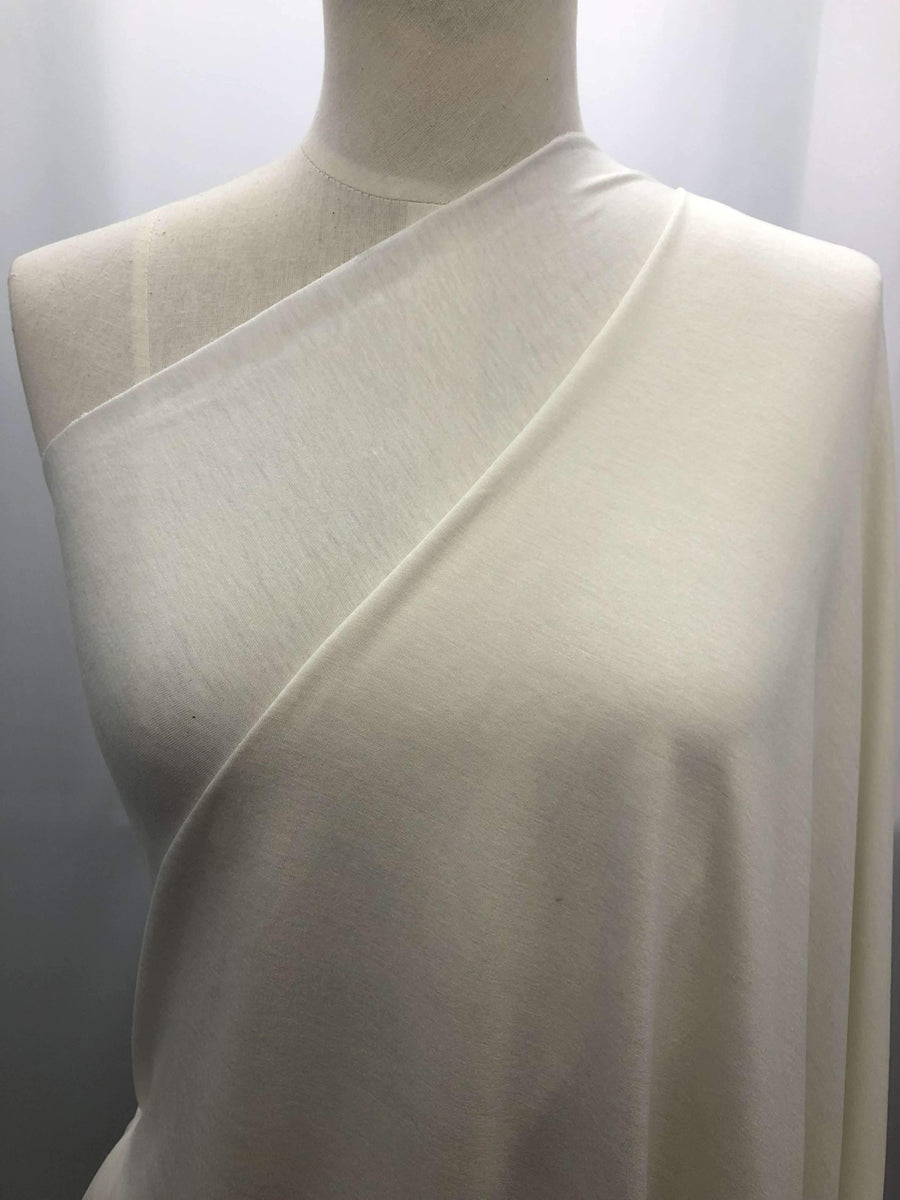 Cotton Lycra - Ivory - Super Cheap Fabrics