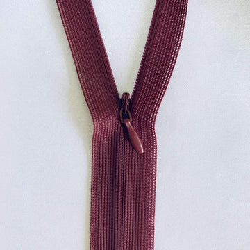 Invisible Zip - Burgundy - Super Cheap Fabrics