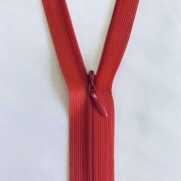 Invisible Zip - Red - Super Cheap Fabrics