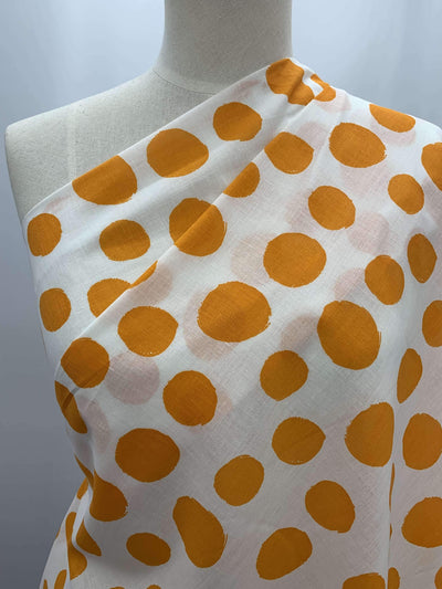 Cotton Voile - Orange Spot - Super Cheap Fabrics