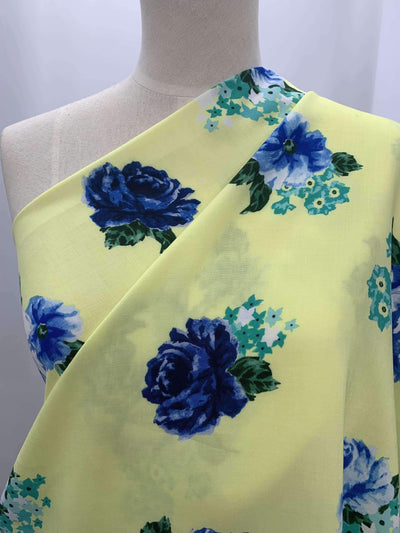 Printed Rayon - Blue Rose