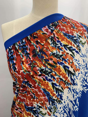 Boarder Print - Stretch Crepe - Super Cheap Fabrics