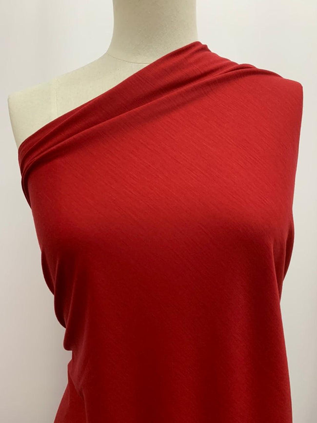 Wool Knit - Deep Red
