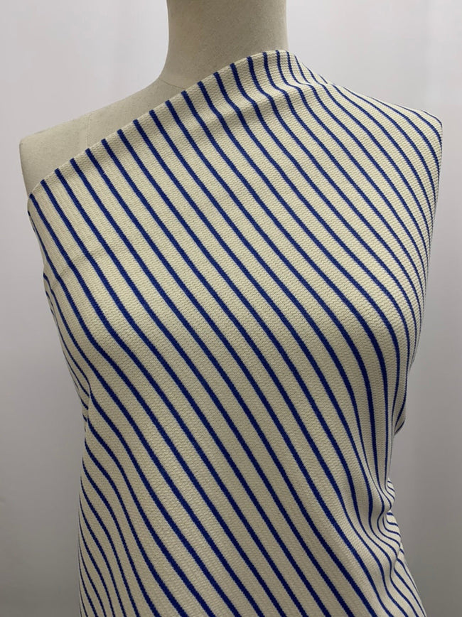 Cotton Knit - Blue Stripe