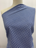 Linen Blend - Blue Mini Gingham