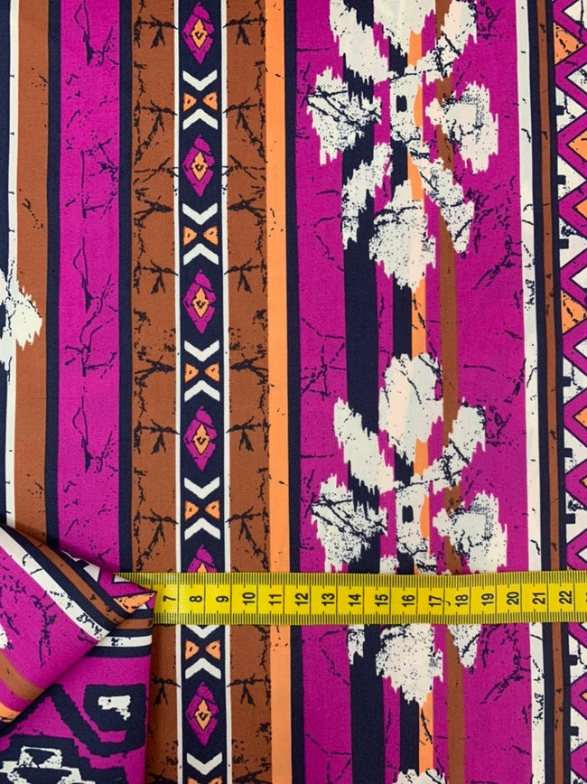 Printed Cotton - Vibrant Aztec