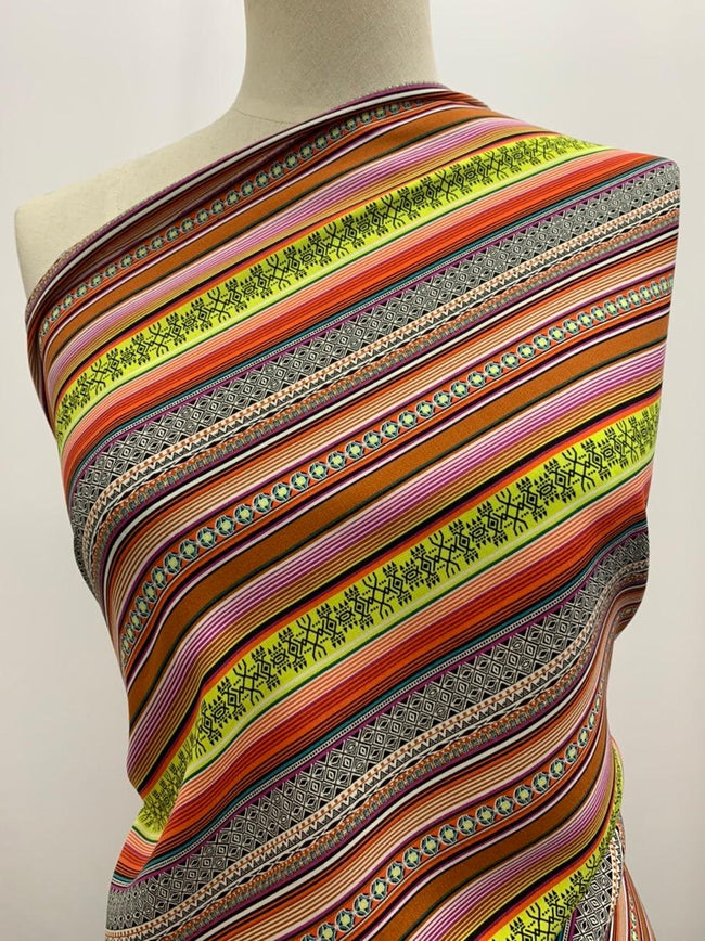 Printed Rayon - Summer Stripes - 140cm