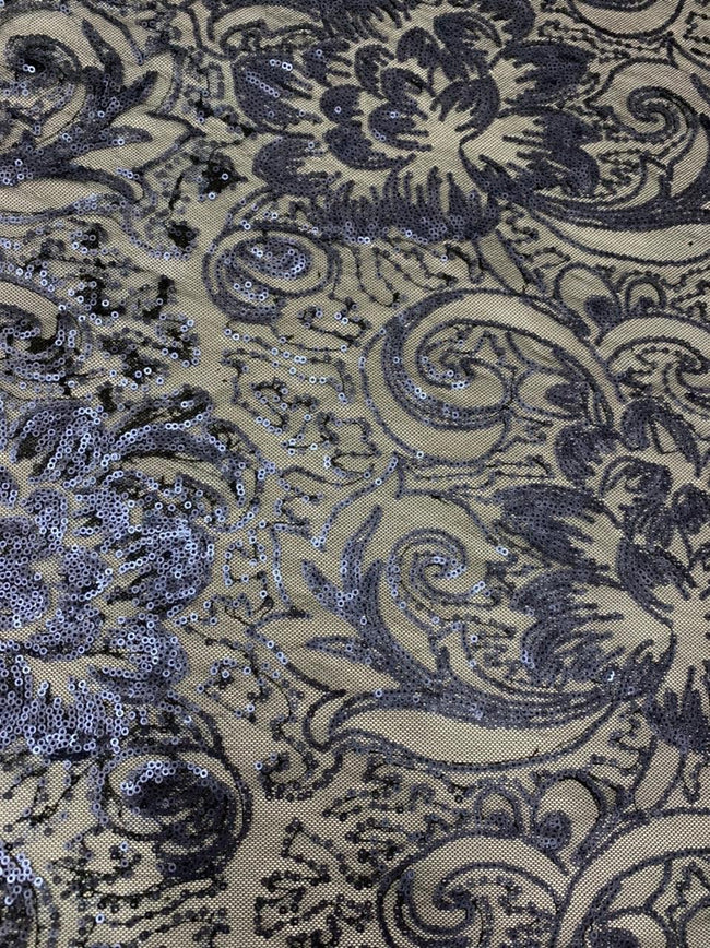 Evening Sequin - Blue Paisley