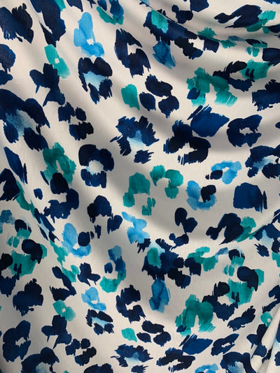 Printed Lycra - Oceanic Watercolour