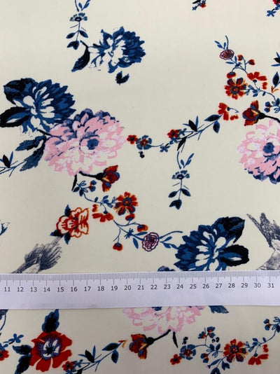 Printed Rayon - Blue Bird