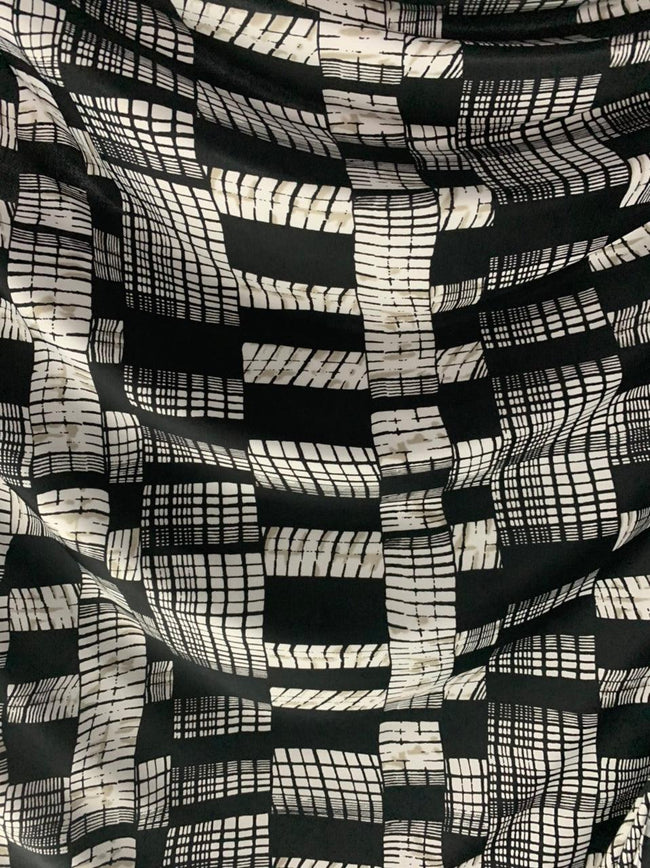 Printed Lycra - City Windows