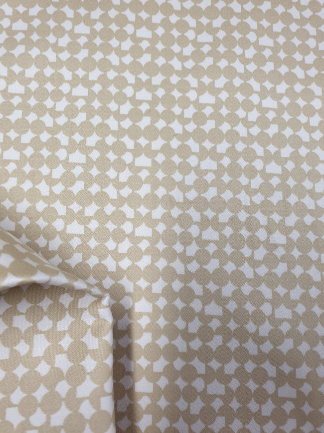 Cotton Sateen - Pebble Geometric - 140cm