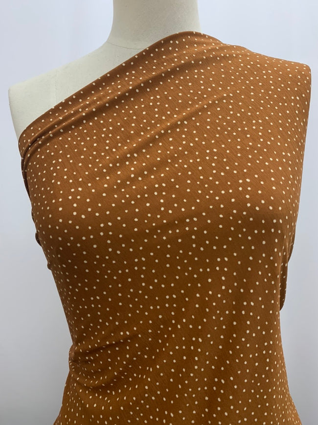 Printed Lycra - Toffee Spot